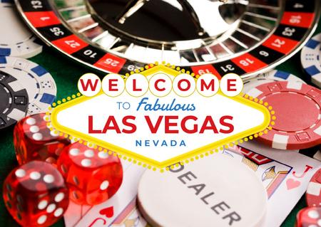 Las Vegas Casino Invitation Postcard – шаблон для дизайну