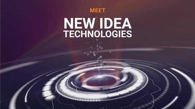 Plantilla de diseño de New Technologies Theme Bright Rotating Circles Full HD video