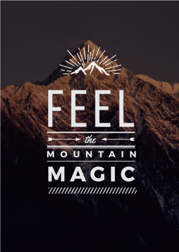Nature inspiration with scenic Mountain peak Flayer – шаблон для дизайну