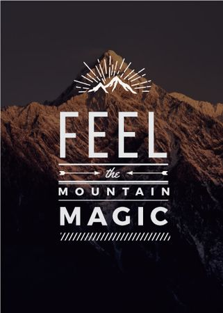 Plantilla de diseño de Nature inspiration with scenic Mountain peak Flayer