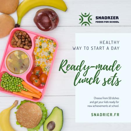 Ontwerpsjabloon van Instagram van Healthy Lunch Offer