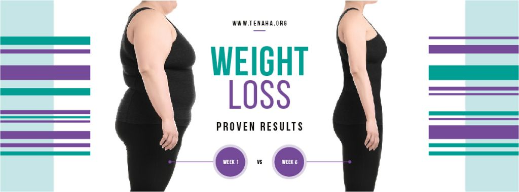 Weight Loss Program Ad with Before and After — Crear un diseño
