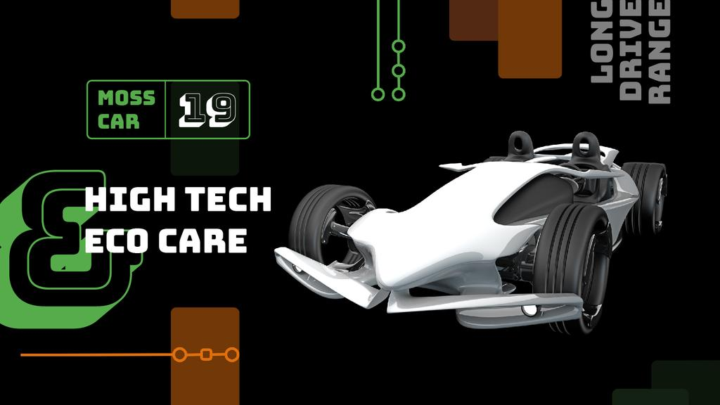 Eco care concept with Sports Car — Створити дизайн