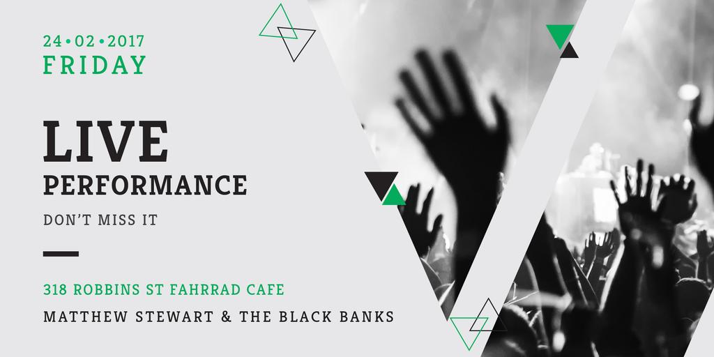Matthew Stewart & The Black Banks live performance — Create a Design