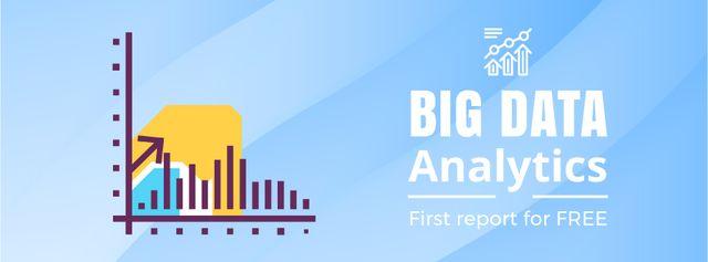 Designvorlage Business performance report icon für Facebook Video cover