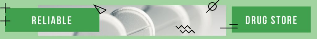 Drug Store Ad Pills in Green — Modelo de projeto