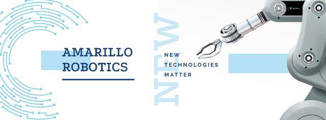 Modern robotics technology Facebook coverデザインテンプレート