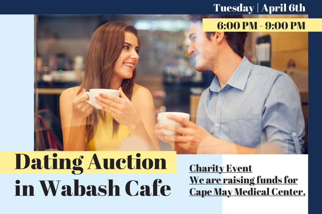 Dating Auction in Cafe — Crear un diseño