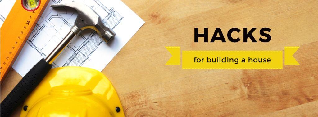 Hacks for building a house poster — Crear un diseño
