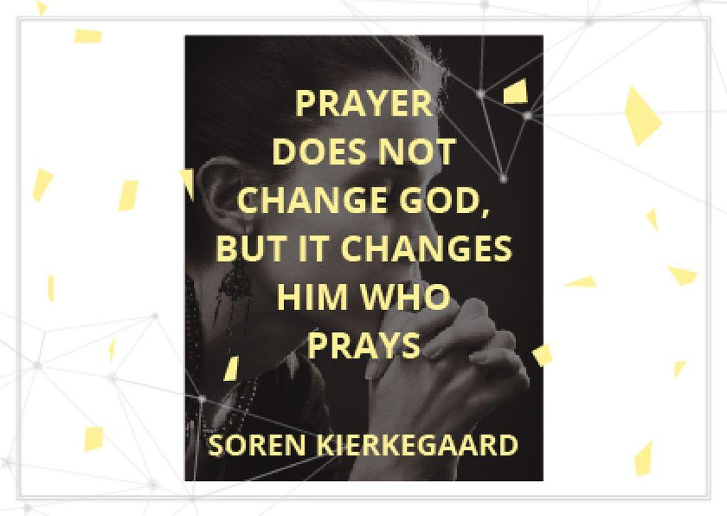 Religion Quote with Woman Praying — Crear un diseño