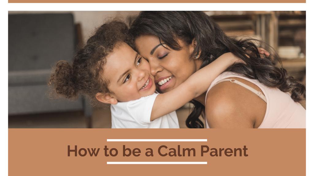 Parenthood Guide Mother Hugging Daughter Youtube Thumbnail Modelo de Design