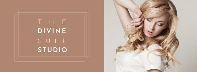 Szablon projektu Beauty Ad with Attractive Blonde Posing Facebook cover