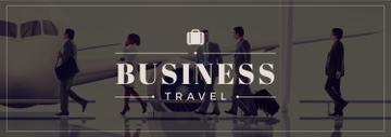 Business Trip People with Luggage in Airport | Tumblr Banner Template