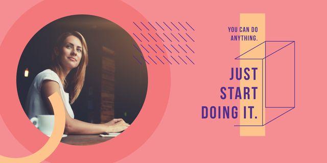 Confident young woman Image – шаблон для дизайну