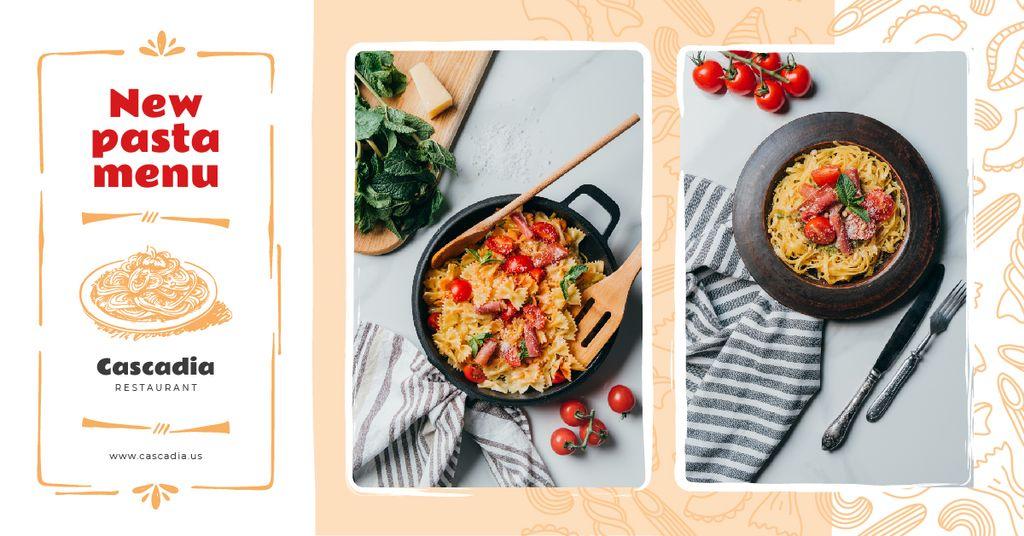 Restaurant Promotion Italian Pasta Dish | Facebook Ad Template — Створити дизайн