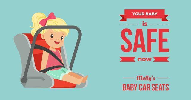 Child in Car Seat Facebook AD – шаблон для дизайну
