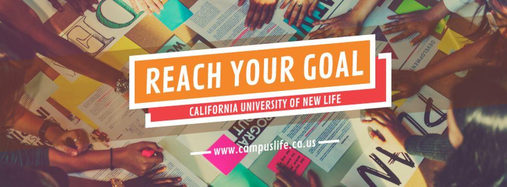 Reach your goal banner — Create a Design
