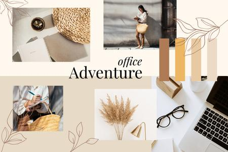 Stylish Girl working on Project Mood Board – шаблон для дизайну