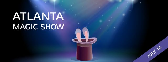 Plantilla de diseño de Bunny in magician hat Facebook Video cover