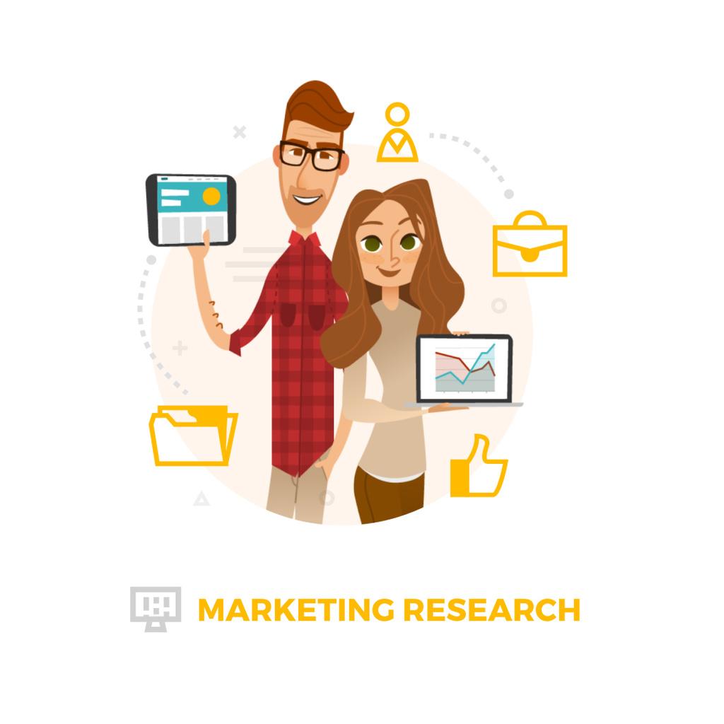 Colleagues presenting report — Crea un design