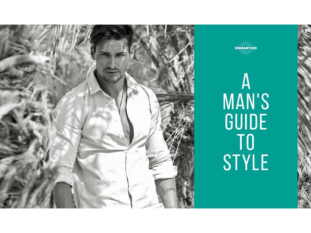 A man's guide to style — Створити дизайн