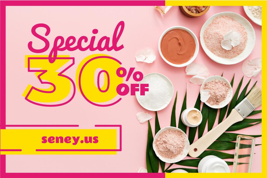 Spa Salt and Treatment in Pink — Crear un diseño