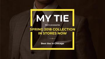 Tie store Ad with Man wearing Suite