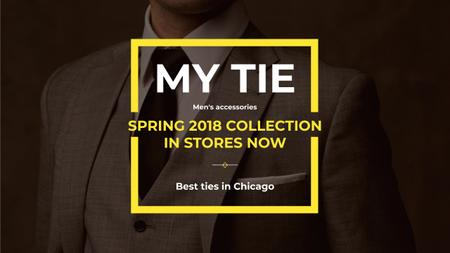 Template di design Tie store Ad with Man wearing Suite Youtube
