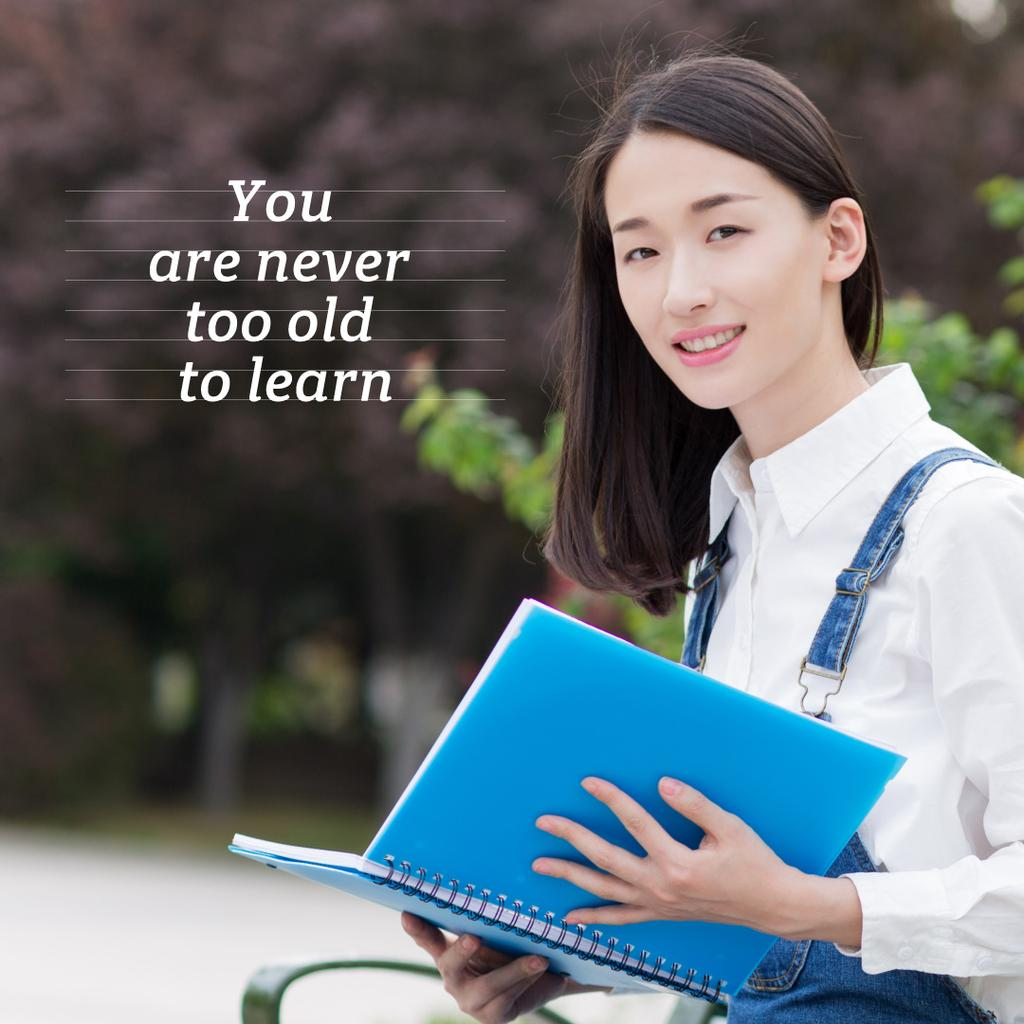 Beautiful young woman with book  —デザインを作成する