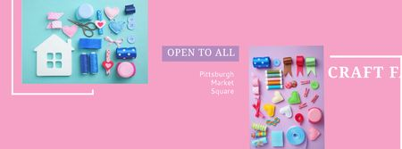 Template di design Craft fair in Pittsburgh Facebook cover