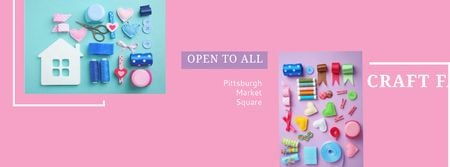 Plantilla de diseño de Craft fair in Pittsburgh Facebook cover
