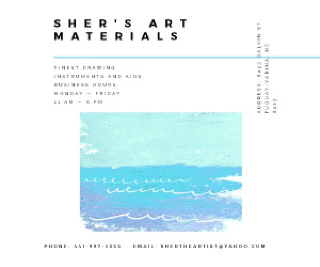 Sher's Art materials shop — Create a Design