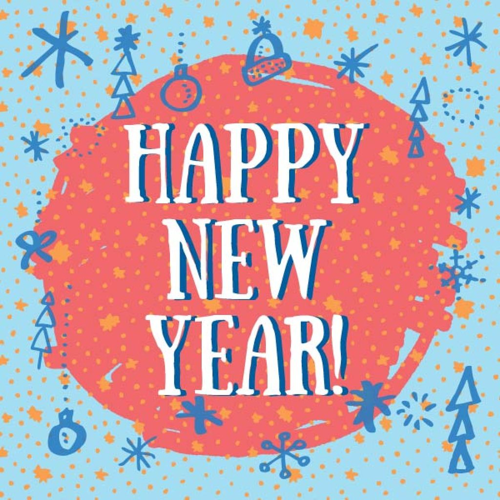 happy new year card design template