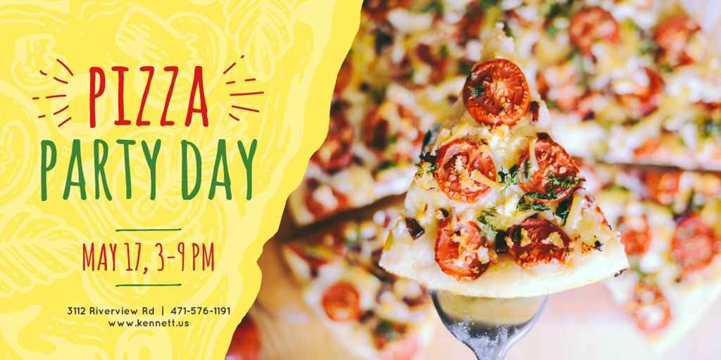 Pizza Party Day poster — Modelo de projeto