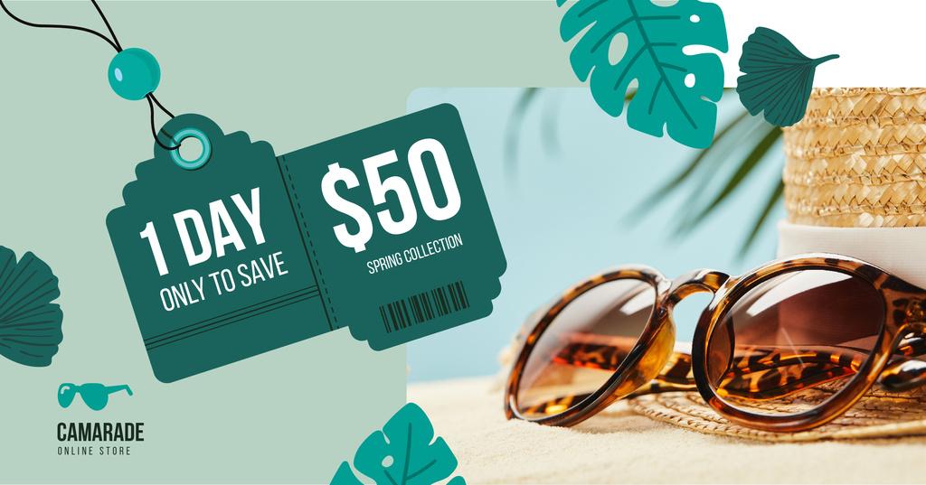 Sunglasses Sale Ad Stylish Vintage Glasses – Stwórz projekt