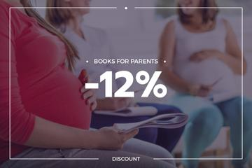 Books Discount with Pregnant Woman Reading