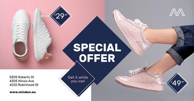 Template di design Shoes Sale Female Legs in Sports Shoes Facebook AD