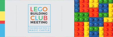 Template di design Lego Building Club Meeting Email header
