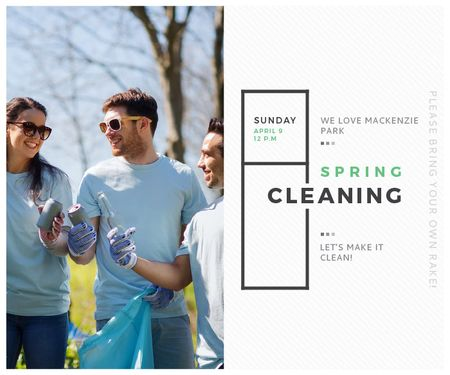 Ontwerpsjabloon van Large Rectangle van Spring Cleaning in Mackenzie park