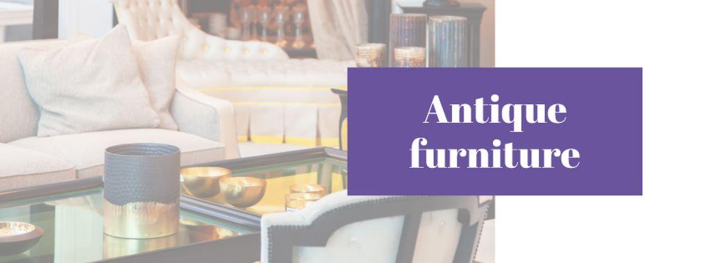 Antique Furniture Ad with Cozy Room — Crear un diseño