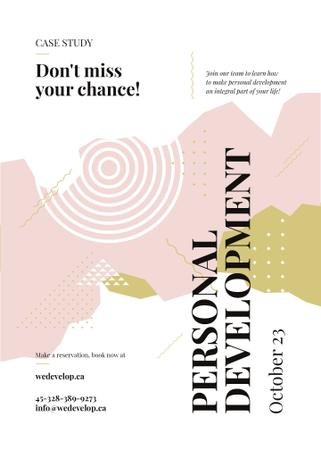 Plantilla de diseño de Business Event ad on geometric pattern Invitation
