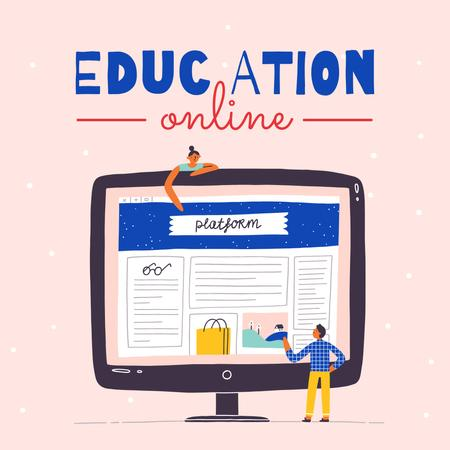 Online Education platform Instagram Modelo de Design