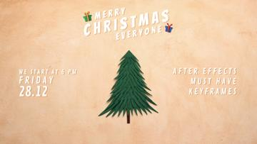 Christmas Invitation Gifts under Tree