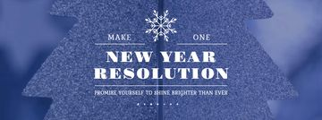 New Year Resolution Inspiration Glittering Tree | Facebook Video Cover Template