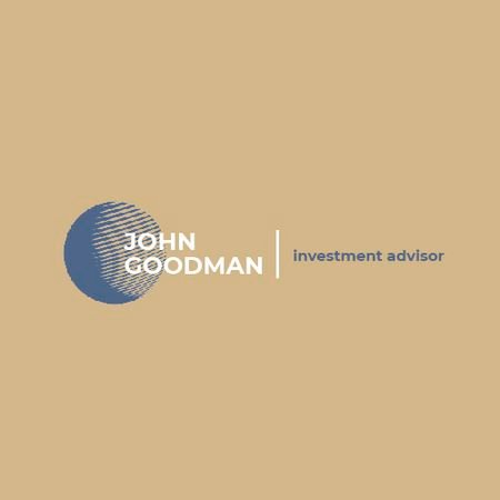 Template di design Investment Company Ad with Globe Icon in Blue Animated Logo
