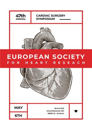 Annual cardiac surgery symposium Poster – шаблон для дизайна