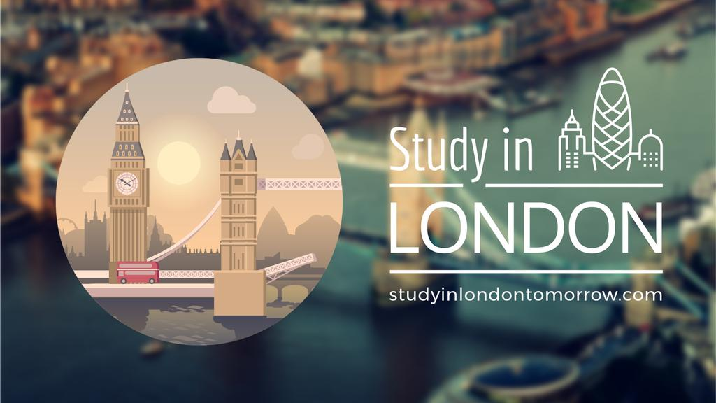 Tour Invitation with London Famous Travelling Spots — ein Design erstellen