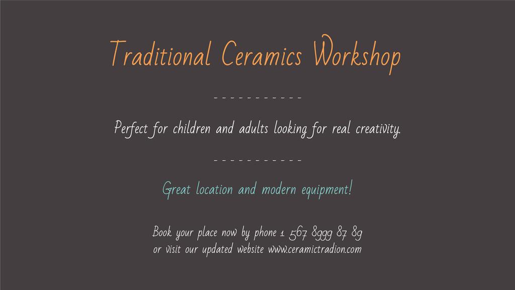 Template di design Traditional Ceramics Workshop promotion FB event cover