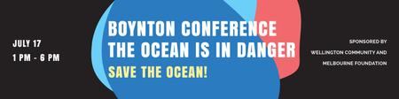 Plantilla de diseño de Boynton conference the ocean is in danger Twitter