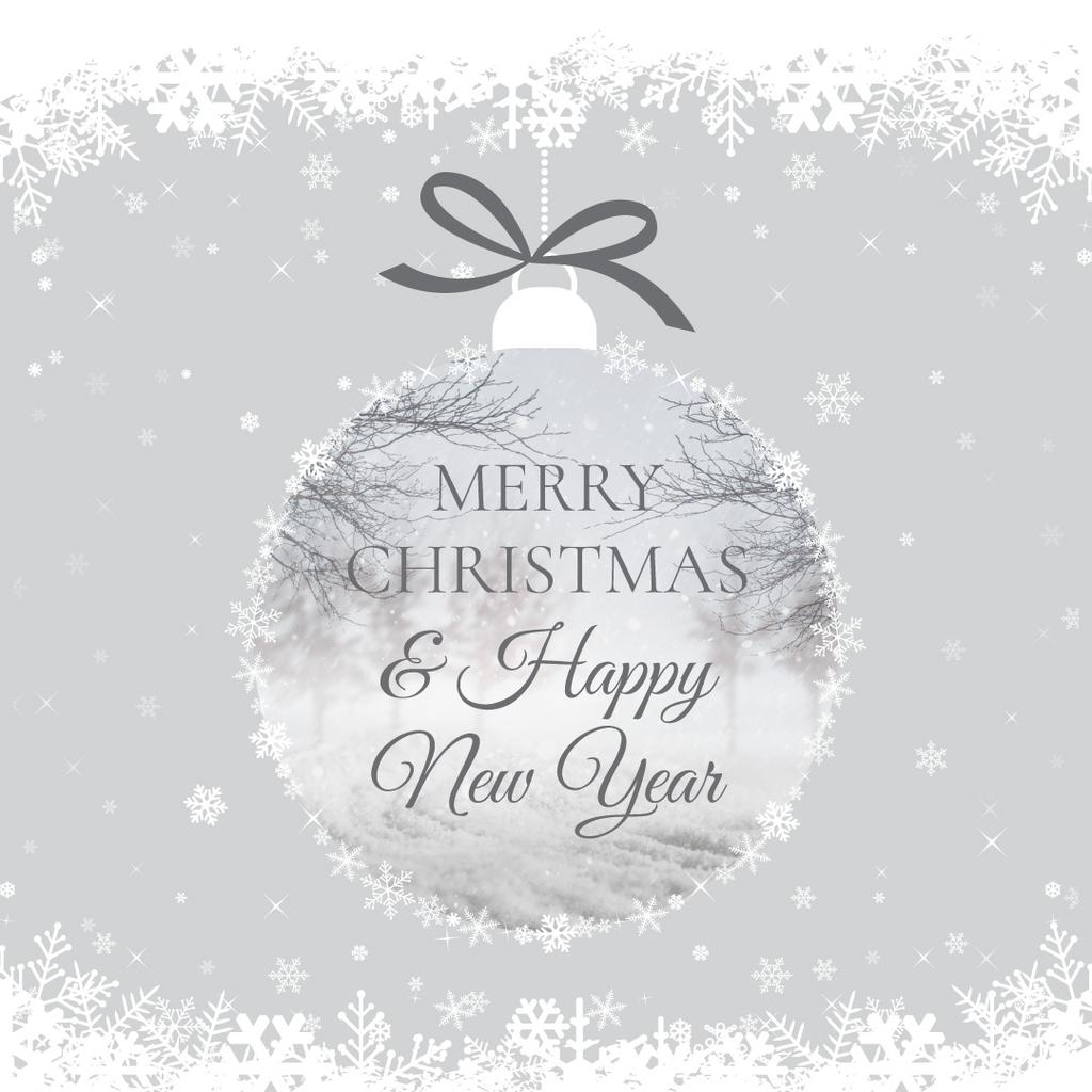 Merry Christmas Card Instagram Post 1080x1080px Template